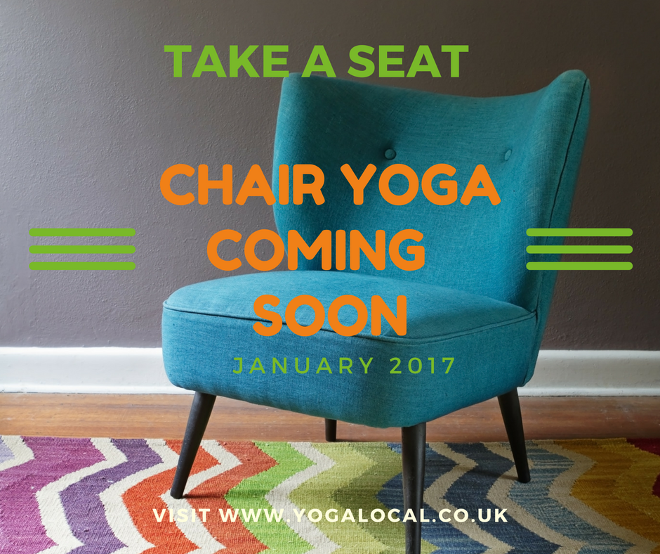 Hold on to your seat – Chair Yoga is coming.