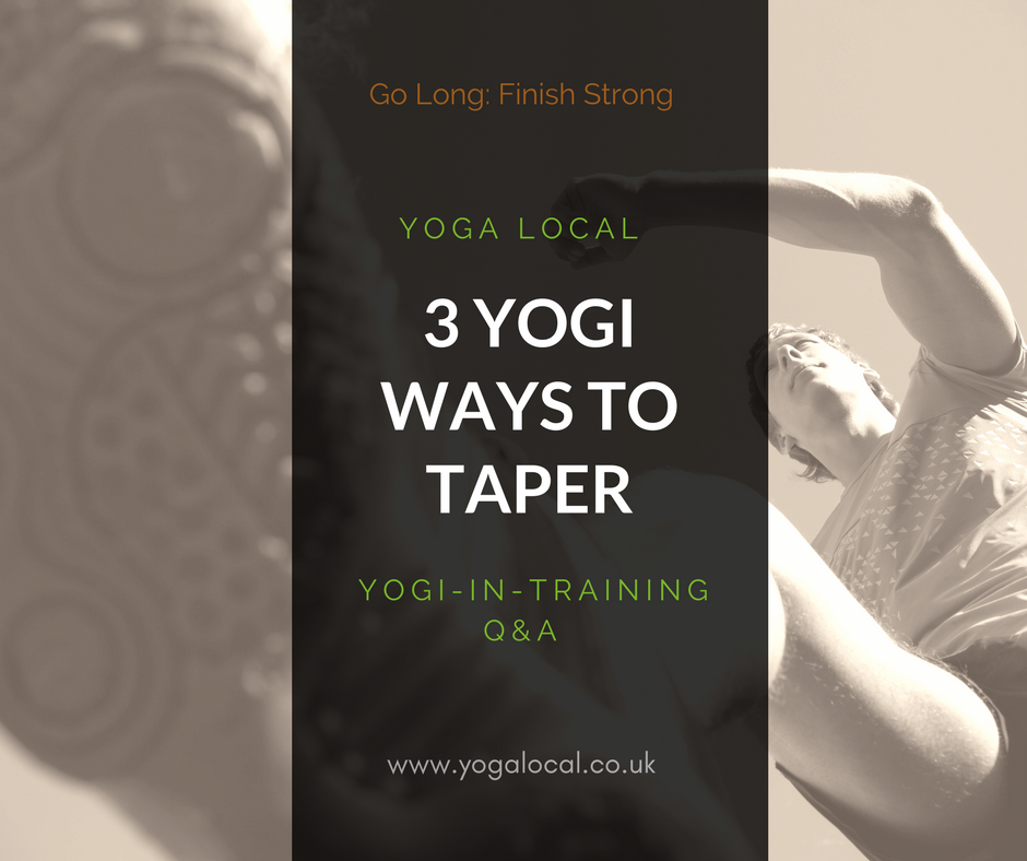 3 Ways Yoga Can Help You Taper