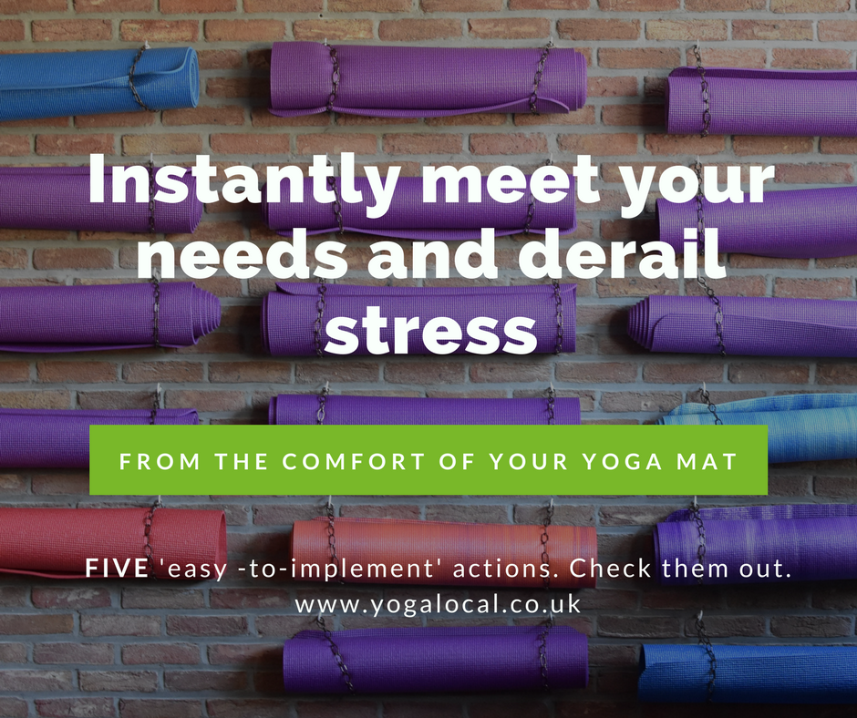 Instantly meet your needs and derail stress from the comfort of your yoga mat