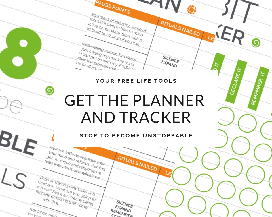 Create space with your FREE Yoga Rituals, Planner and Habit Tracker.
