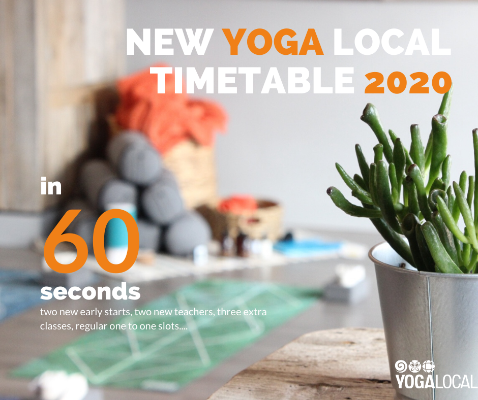 YOUR NEW 2020 YOGA TIMETABLE IN 60 SECONDS
