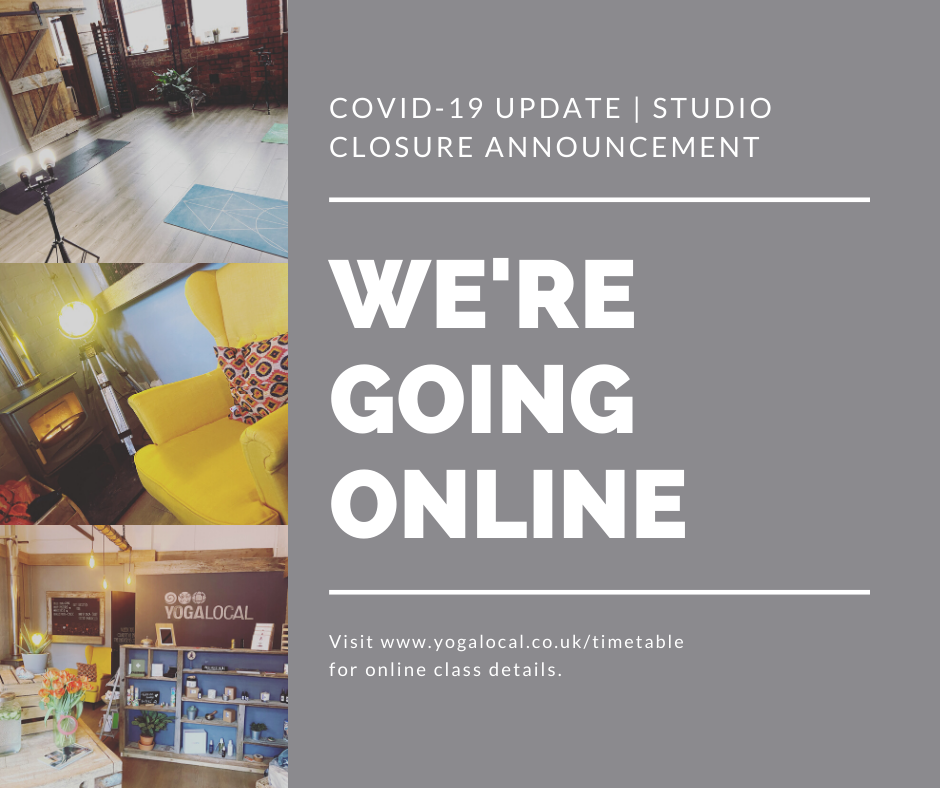 YOGA LOCAL STUDIO CLOSURE | COVID 19