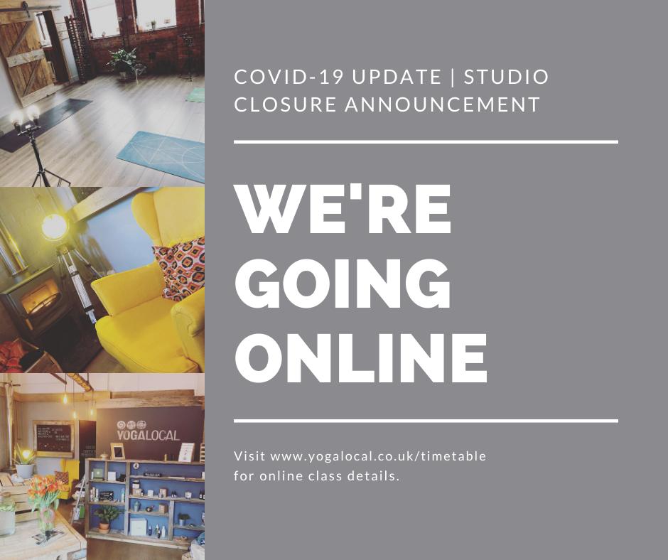 YOGA LOCAL STUDIO CLOSURE | COVID 19